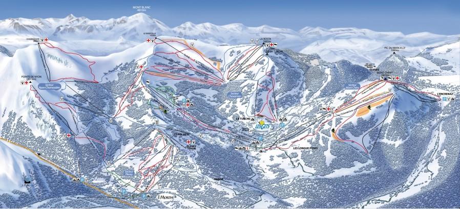 Morzine ski map Our playground
